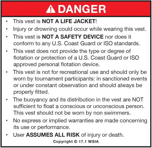 NCGA Vest Warning