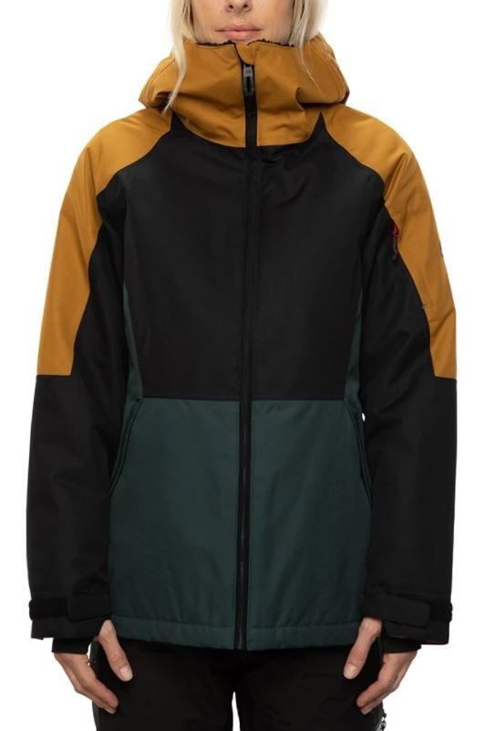686 Women's Lightbeam Insulated Jacket - Golden Brown Colorblock