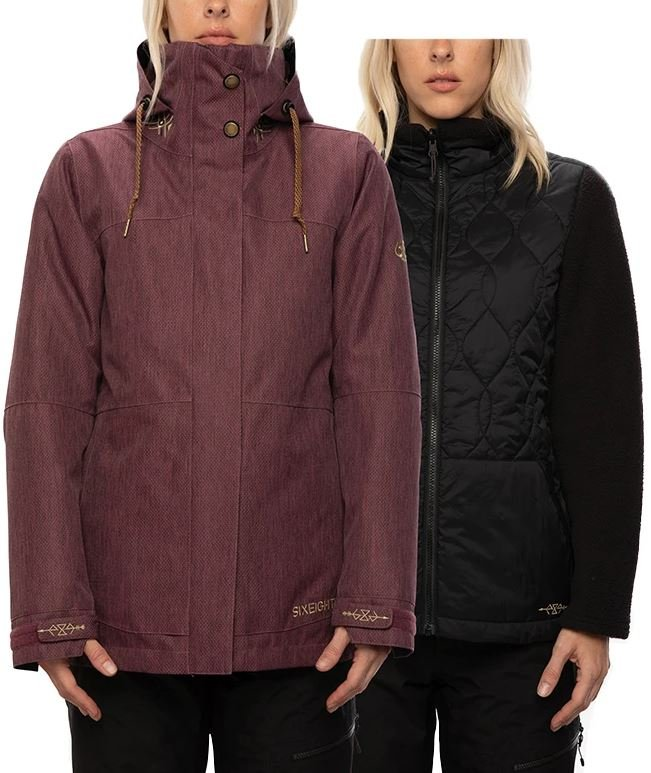 686 Women's SMARTY 3-in-1 Spellbound Jacket - Plum Diamond Texture