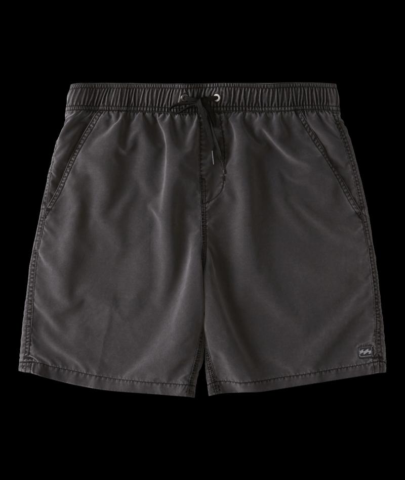 Billabong All Day Overdye Layback Boardshorts 17 - Black