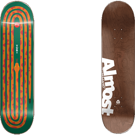 Almost Yuri Snake Pit R7 Orange 8.125 x 31.7 Skateboard Deck