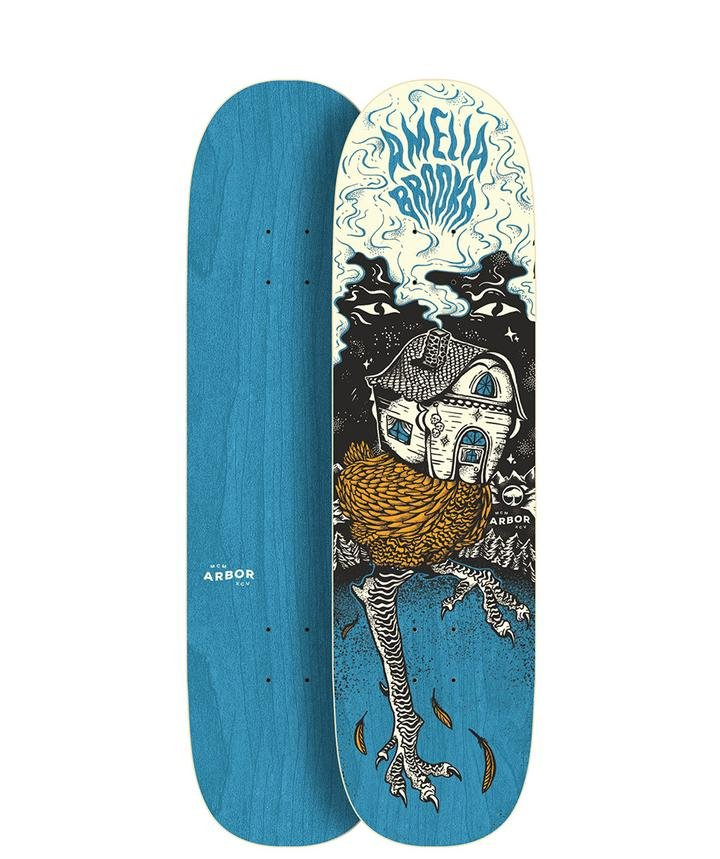 Arbor Amelia Baba Yaga 8.5 x 32.25 Skateboard Deck