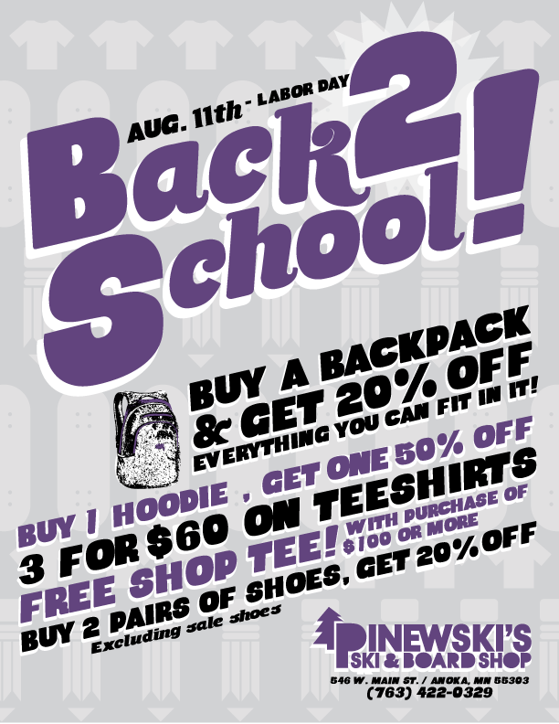 Pinewski's Back To School Sale 2018