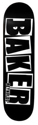 Baker Reynolds Brand Name Black White 8.0 x 31.5 Skateboard Deck