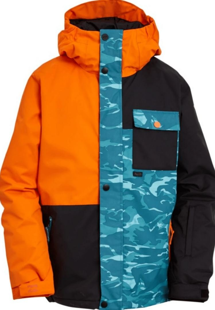 Billabong Arcade Boys Snow Jacket - Bright Orange