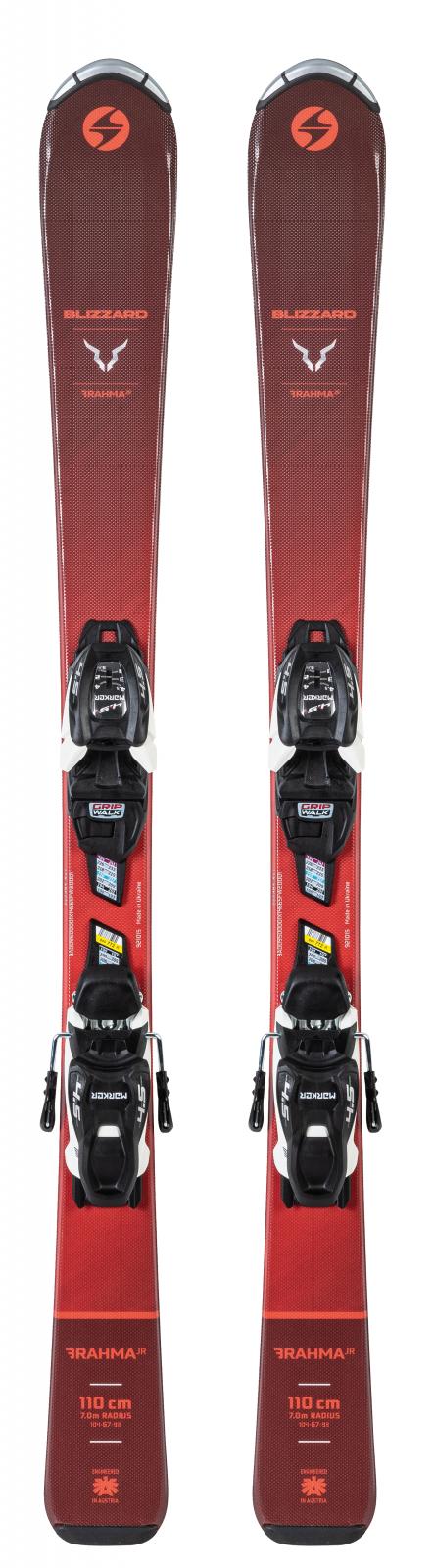 2021 Blizzard Brahma Jr Youth Skis w/ Marker FDT 4.5 Bindings
