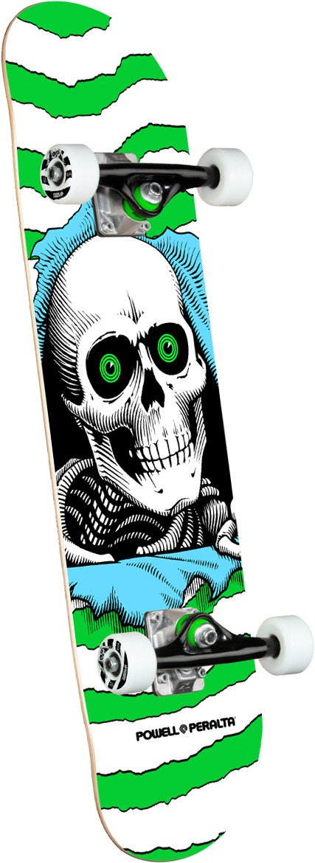 Powell Peralta Ripper One Off Green Birch 7.5 x 30.7 Skateboard Complete