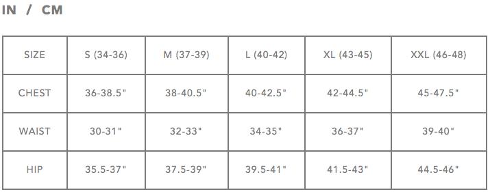 Dakine Size Chart - Men's T-shirts