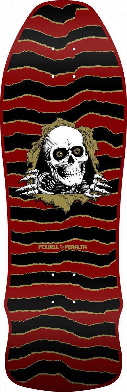 Powell Peralta Geegah Ripper Maroon 9.75 x 30 Skateboard Deck