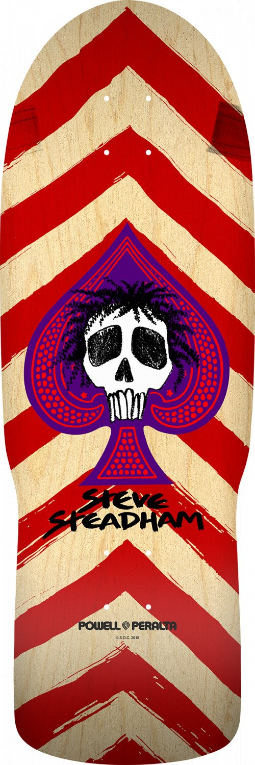 Powell Peralta Steve Steadham Spade 11 10 x 30.125 Skateboard Deck - Red/Natural