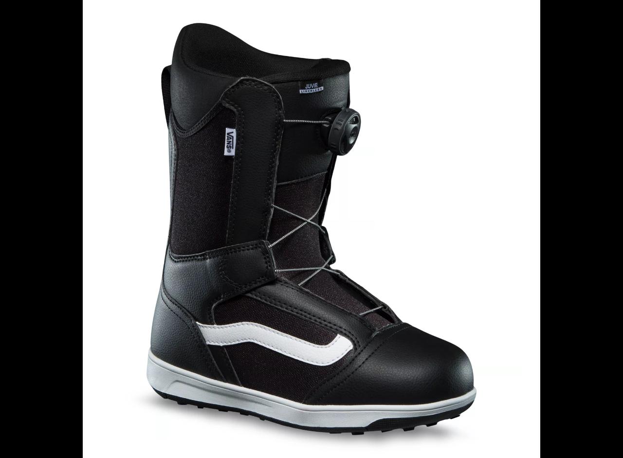 2022 Vans Linerless Juvie Junior Snowboard Boots - Black / White
