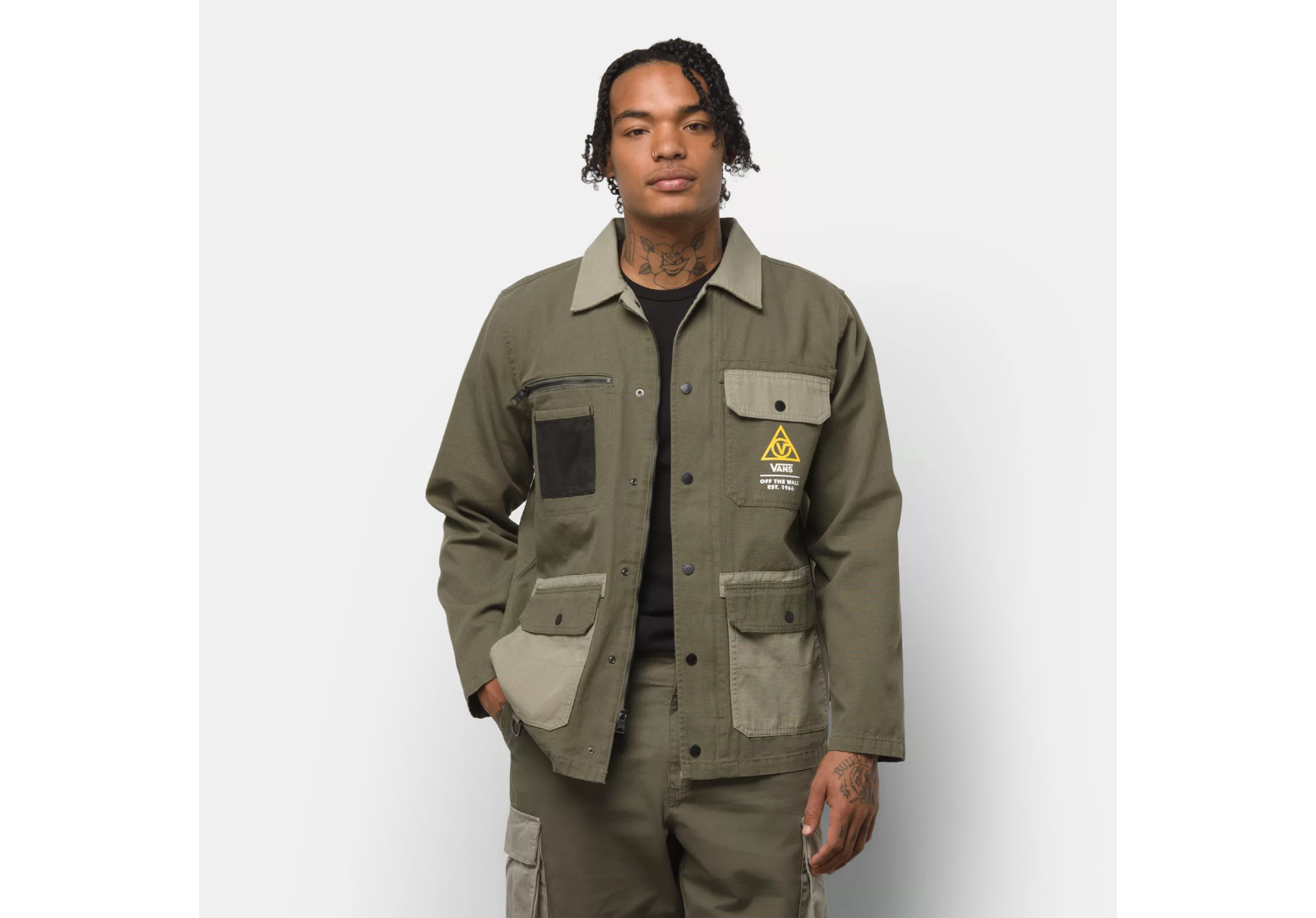 Vans Drill Chore Coat Lined Military Jacket