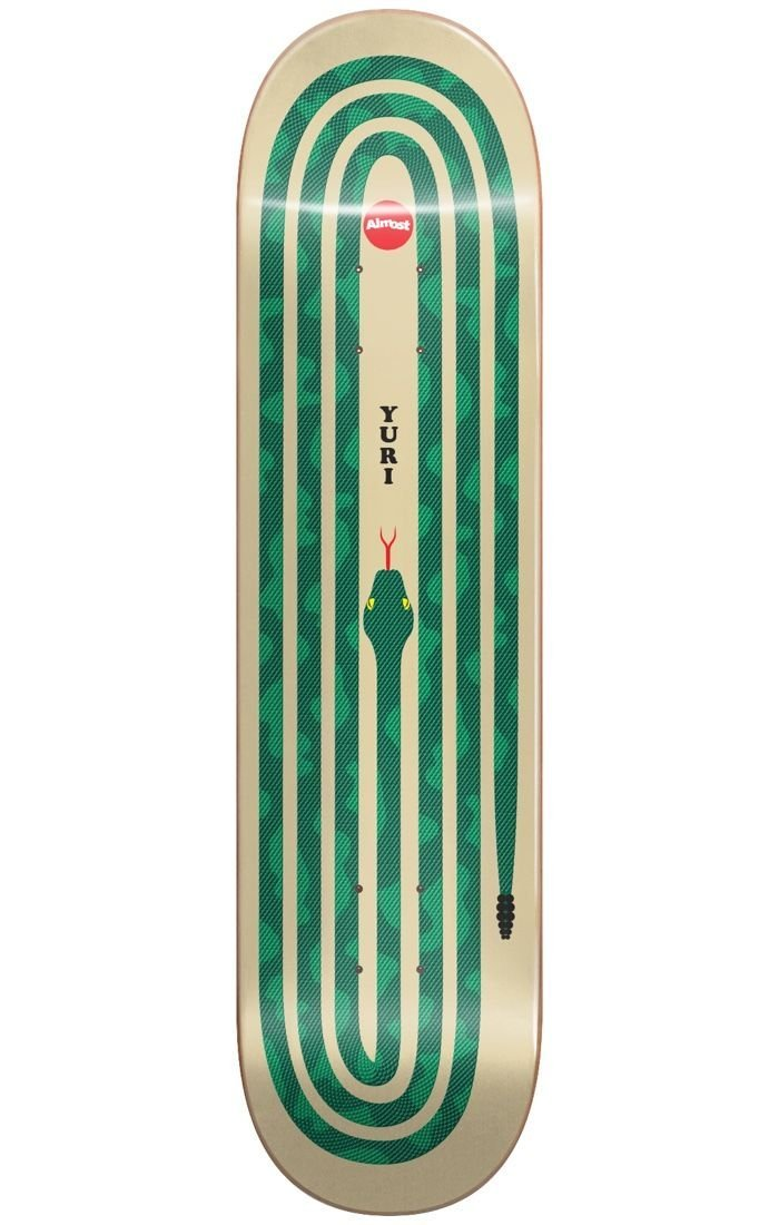 Almost Yuri Snake Pit R7 Green 8.375 x 32.2 Skateboard Deck