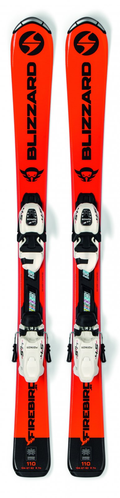 2020 Blizzard Firebird Jr Youth Skis w/ FDT 4.5 Binding