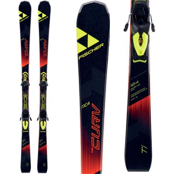17/18 Fischer RC4 The Curve TI Powerail Men's Skis