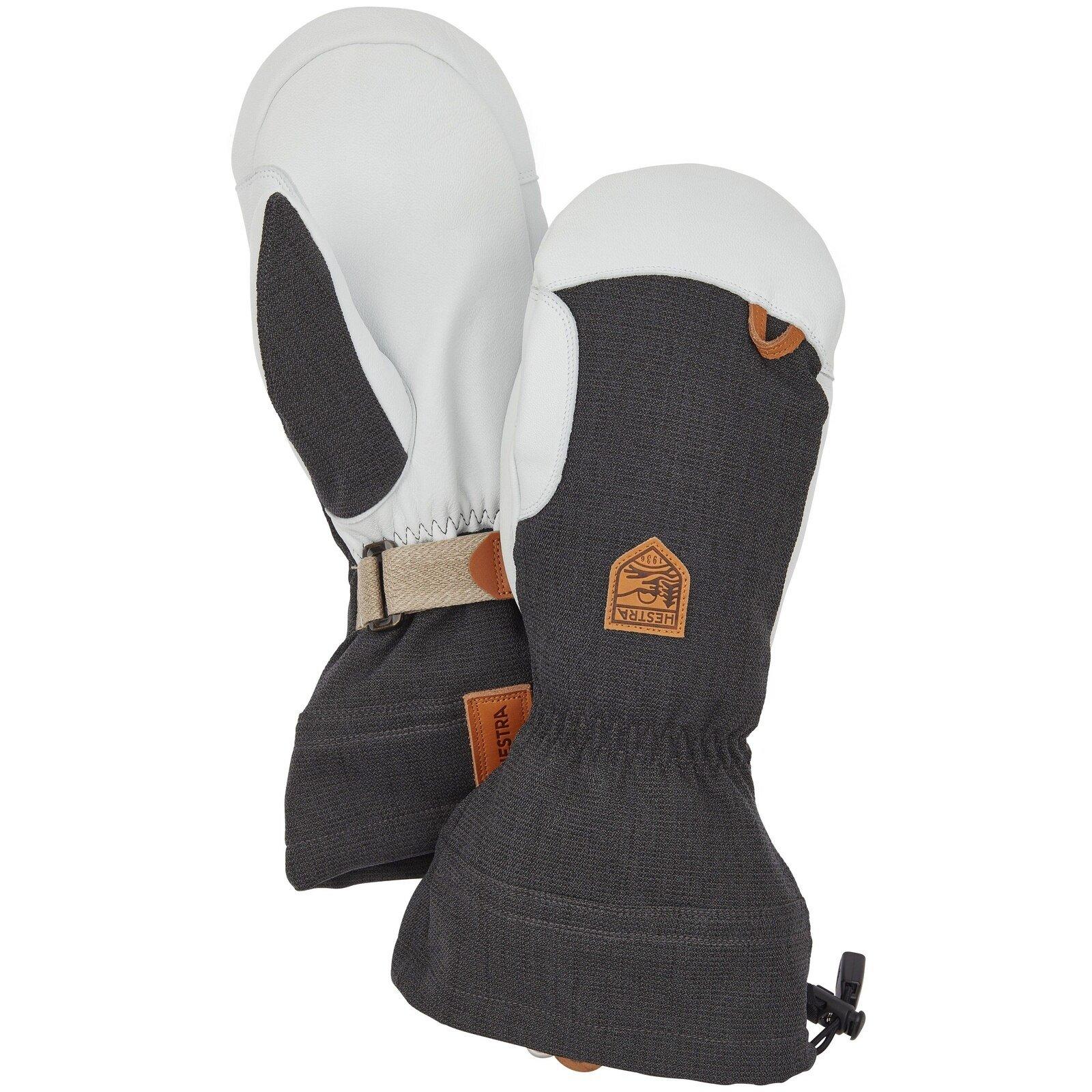 Hestra Army Leather Patrol Gauntlet Mitt - Charcoal