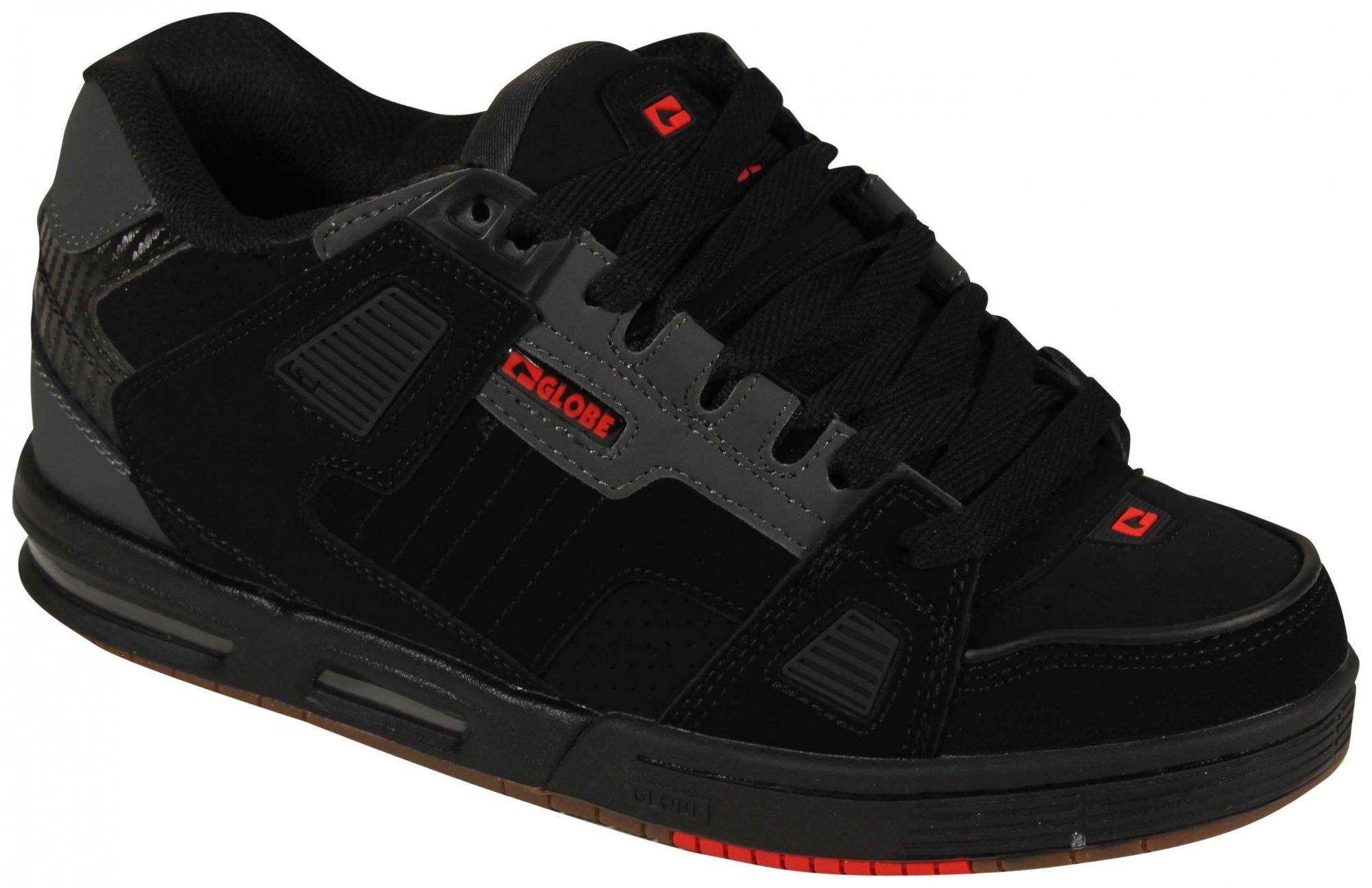Globe Sabre Men's Shoes - Black / Charcoal / Red
