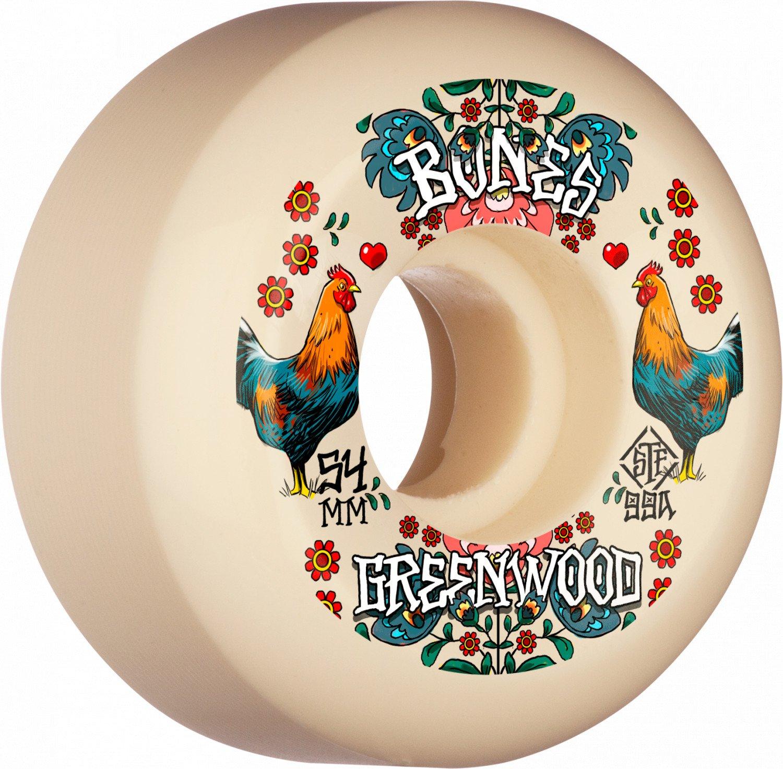 Bones Pro STF Greenwood Decoupe 54mm V5 99a - Skateboard Wheels