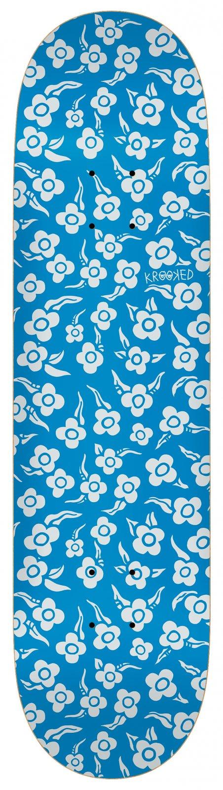 Krooked Flowers 8.25 x 32 Skateboard Deck