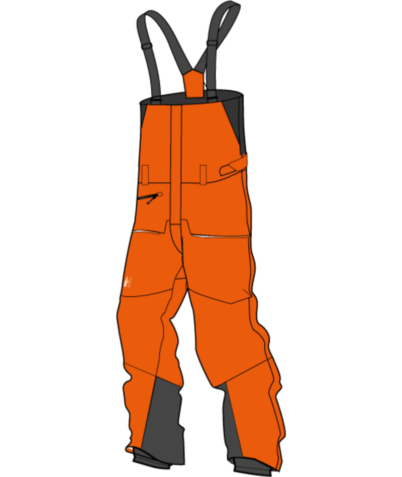 Helly Hansen Sogn Bib Shell Pant Men's - Bright Orange