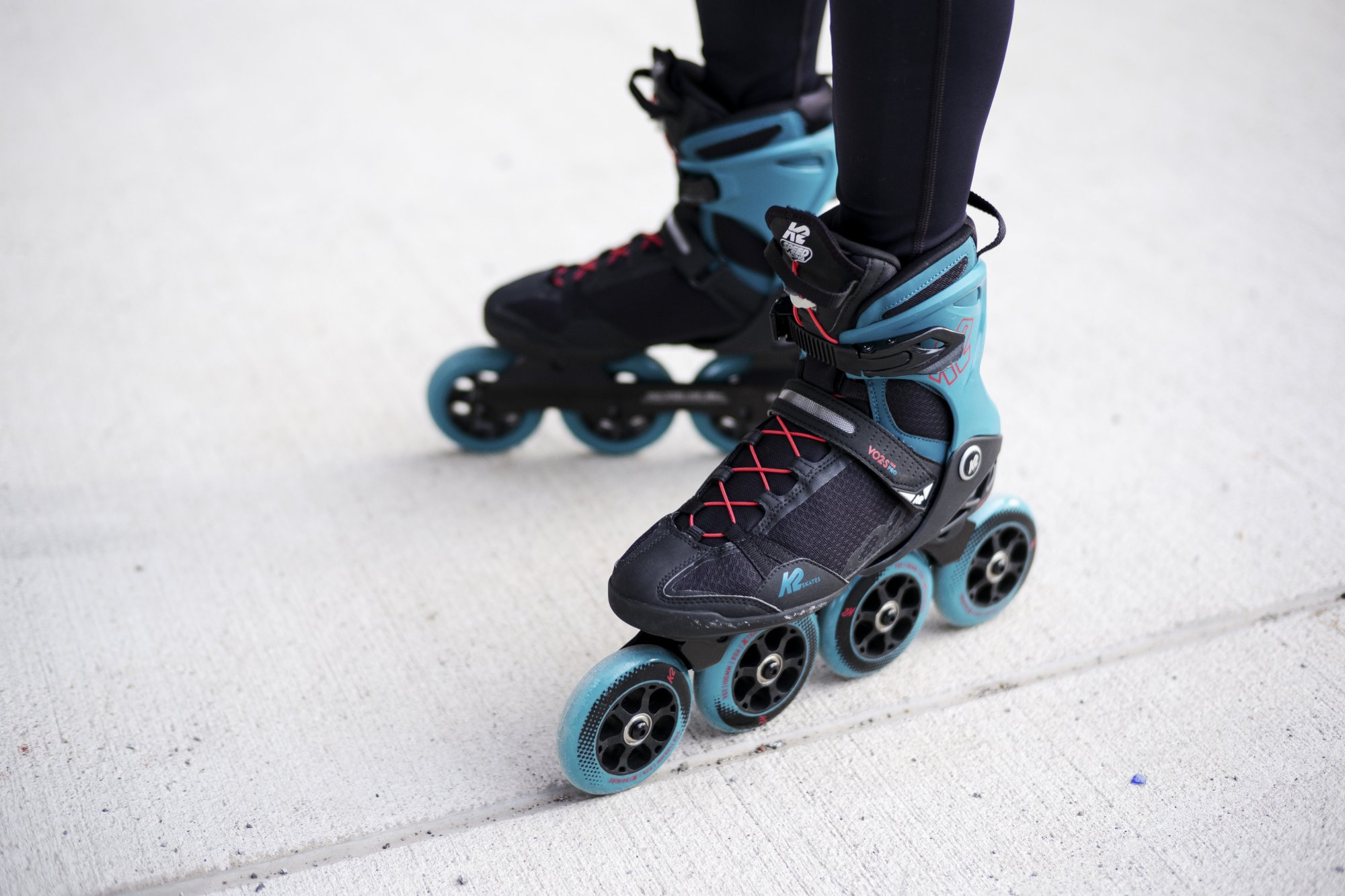 Men's and women's inline skates.
