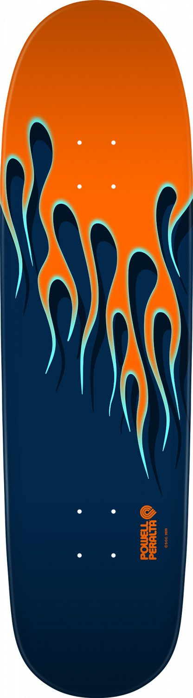 Powell Peralta NITRO Hot Rod Flames Orange/Blue 9.33 X 33.25 Skateboard Deck