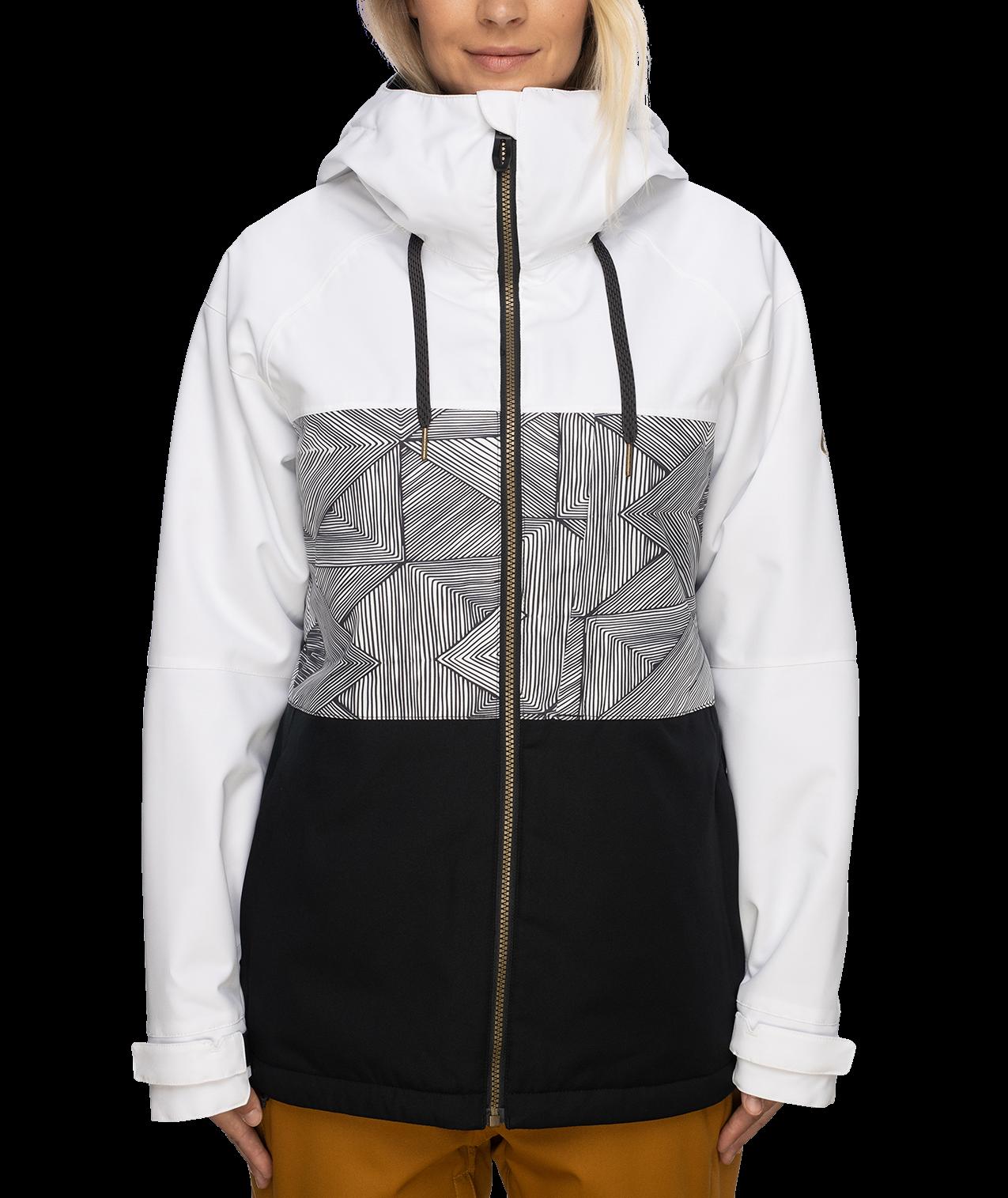686 Women's Athena Insulated Jacket - White Geo Colorblock