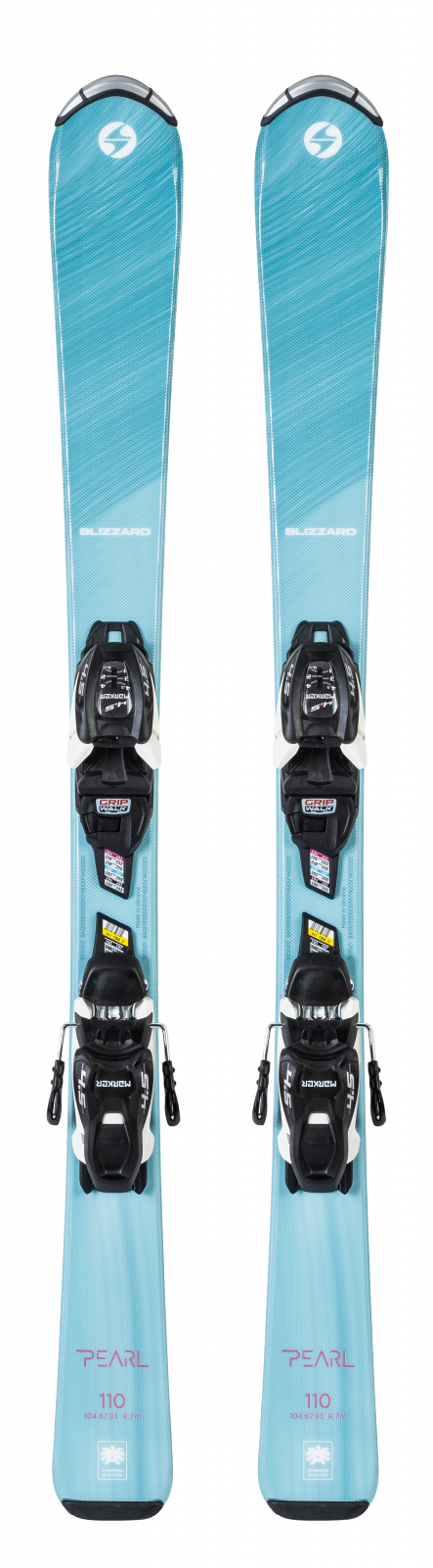 2022 Blizzard Pearl Jr Youth Skis w/ Marker FDT 4.5 Bindings