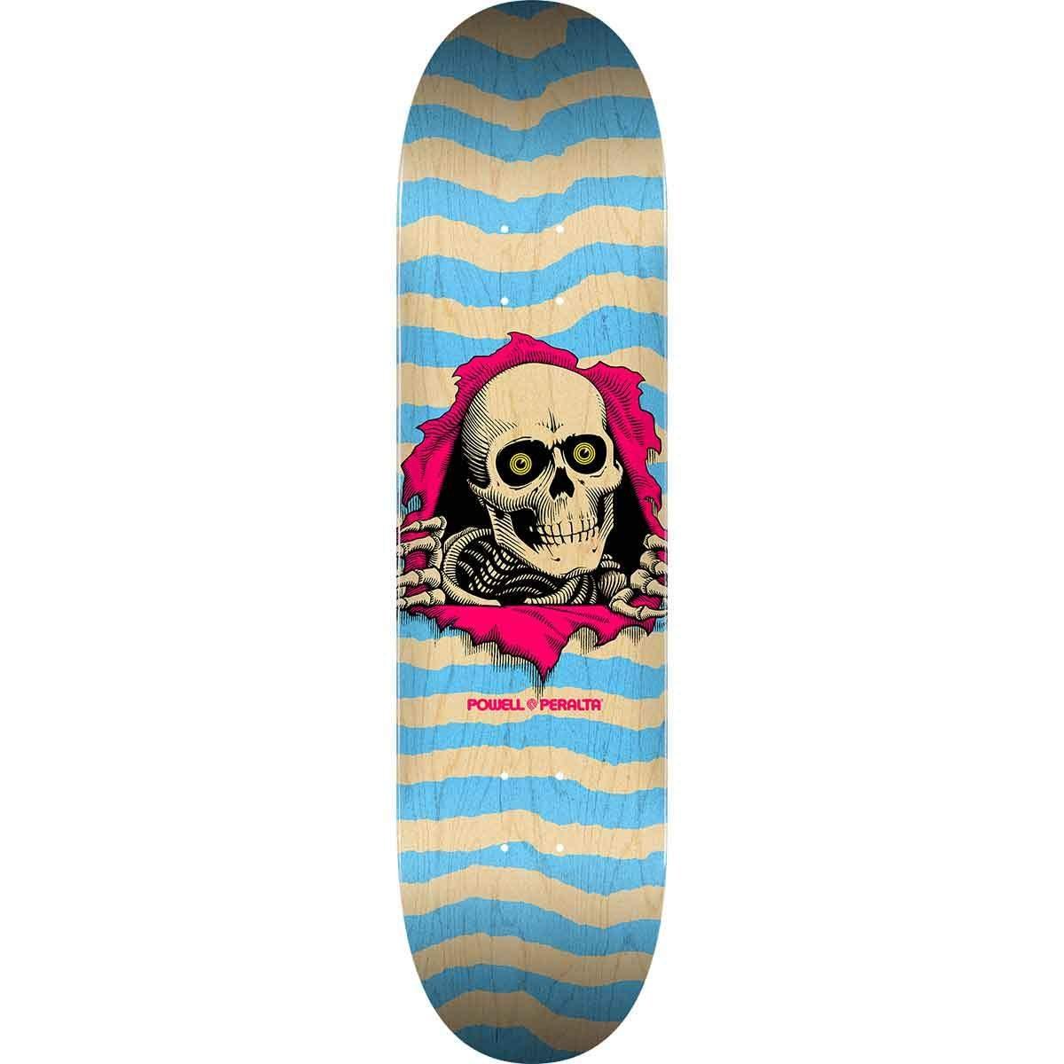 Powell Peralta Ripper Natural Blue 248 K20 8.25 x 31.95 Skateboard Deck
