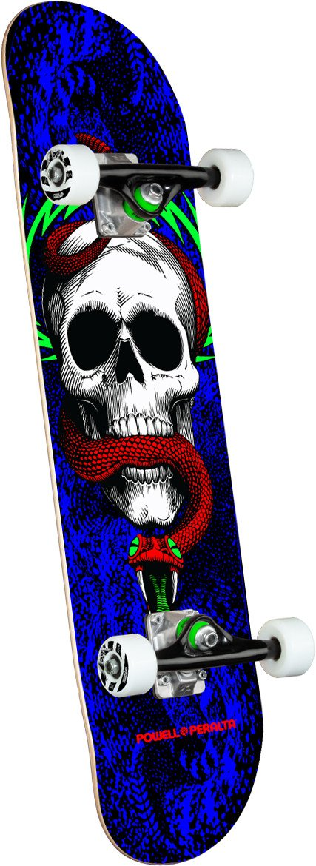 Powell Peralta Skull & Snake One Off Royal Blue Birch 7.75 x 31.08 Skateboard Complete