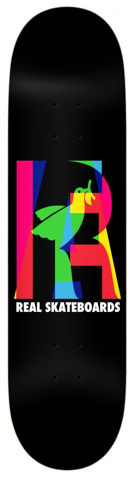 Real Elipsing Black 8.06 x 31.8 Skateboard Deck