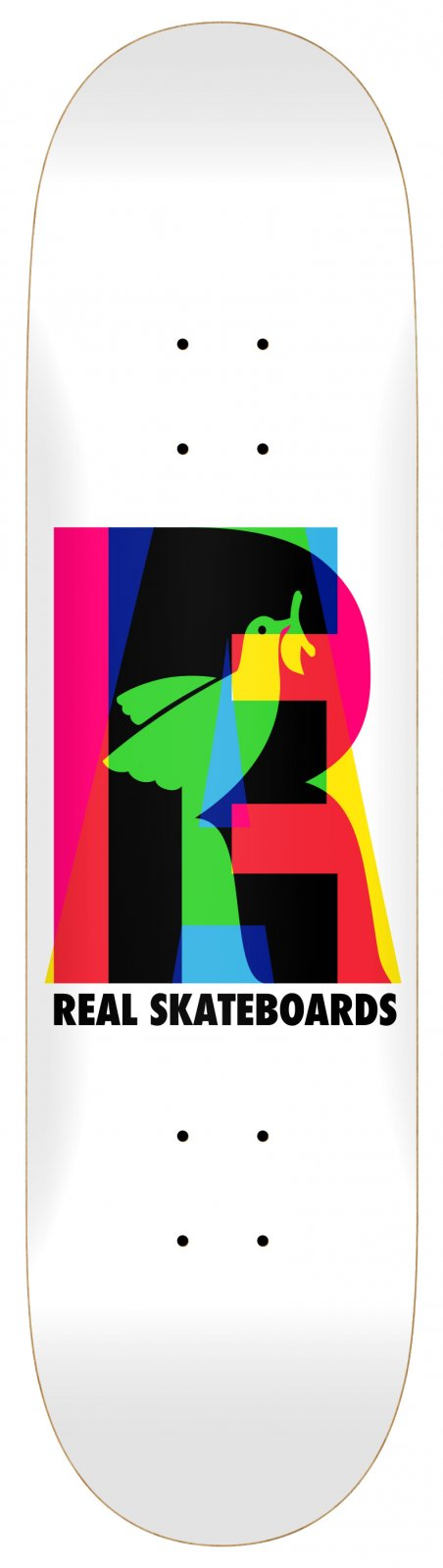 Real Elipsing White 7.68 x 29.5 Skateboard Deck