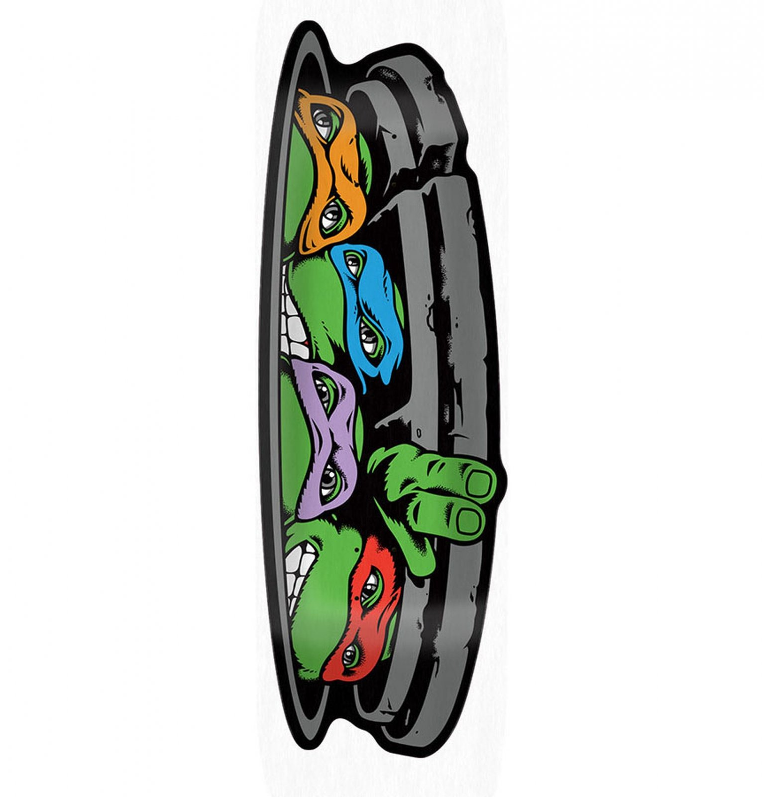 Santa Cruz TMNT Turtle Funboard 10.31 Skateboard Deck