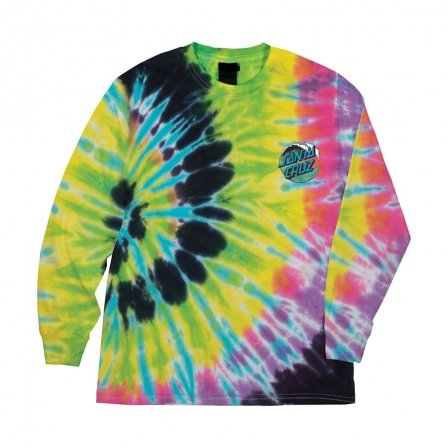Santa Cruz Wave Dot Regular L/S Mens T-Shirt