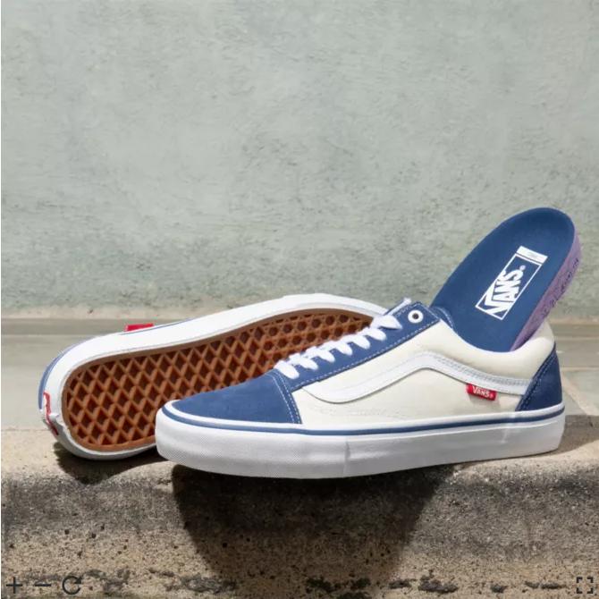 Vans Old Skool Pro - Sty Navy / Classic White - Men's Shoes