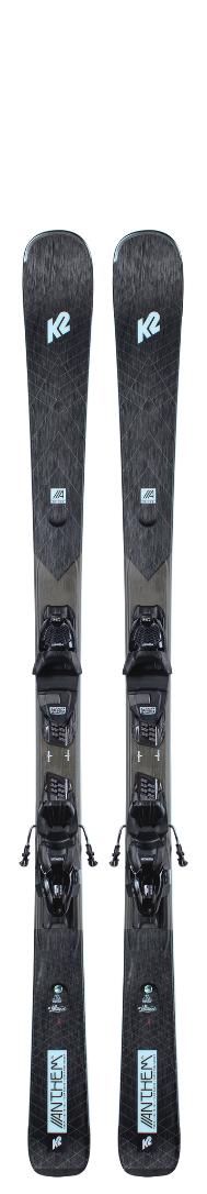 2021 K2 Anthem 76 Women's Ski W/ Marker ERP 10 Quickclik Binding