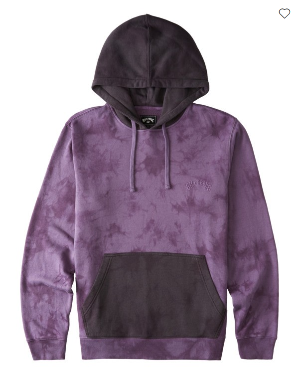 Billabong Wave Washed Blocked Pullover Men's Hoodie - Purple Haze