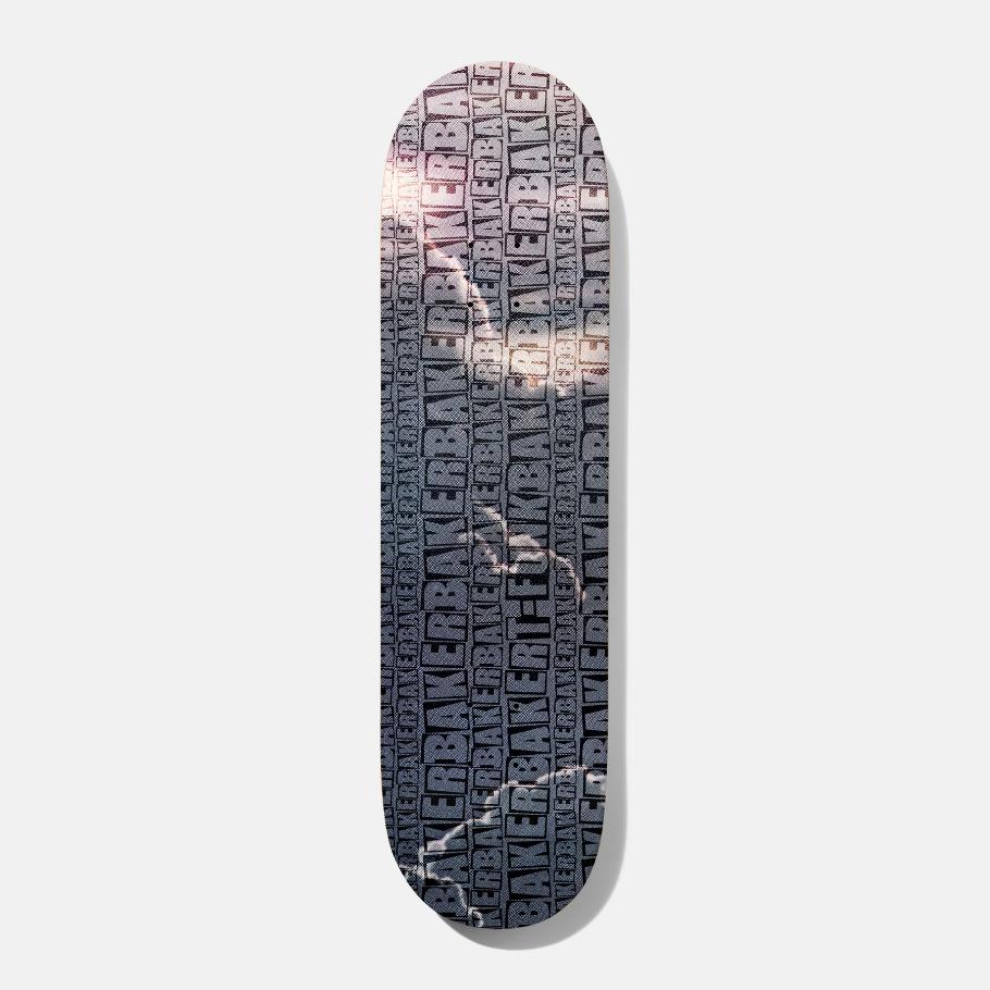 Baker T-Funk Repeat Grey B2 8.5 x 32.25 Skateboard Deck