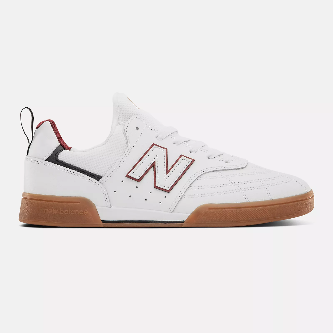New Balance 288S - White w/ Red