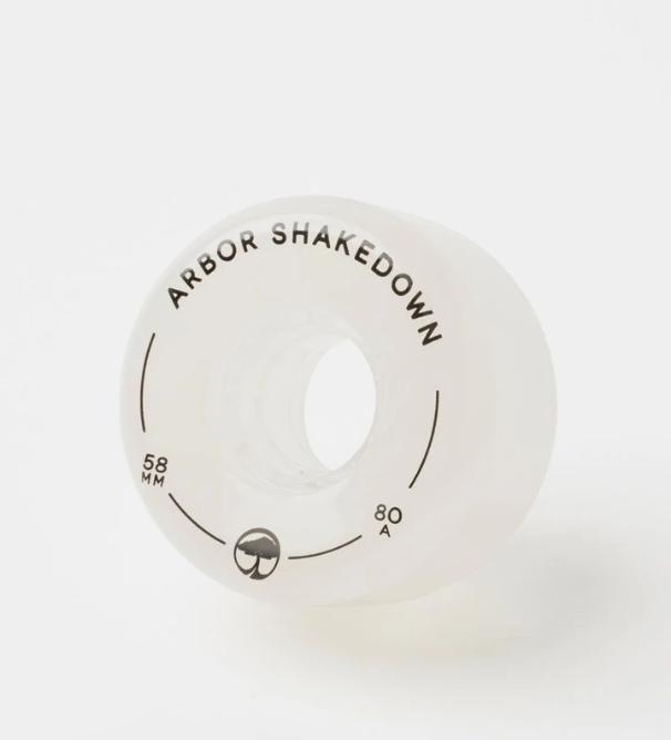 Arbor Shakedown 58mm 80A Wheels