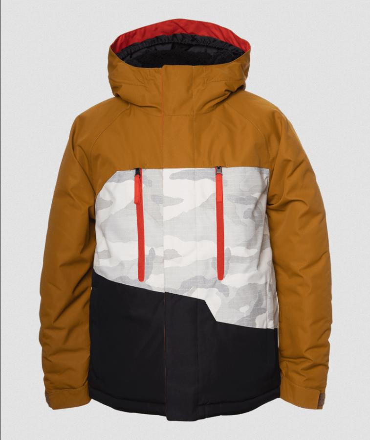 686 Boys Geo insulated Snow Jacket - Golden Brown