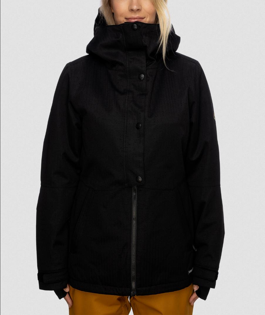 686 Women's Rumor Insulated Jacket - Black Slub