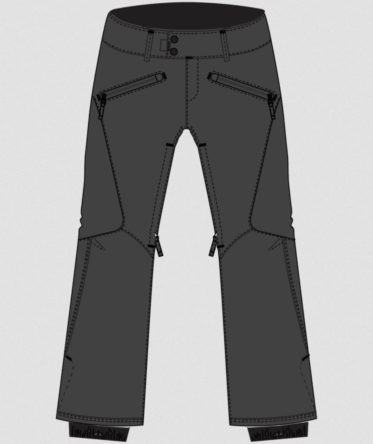 686 Women's Aura Insulated Cargo Pant - Charcoal