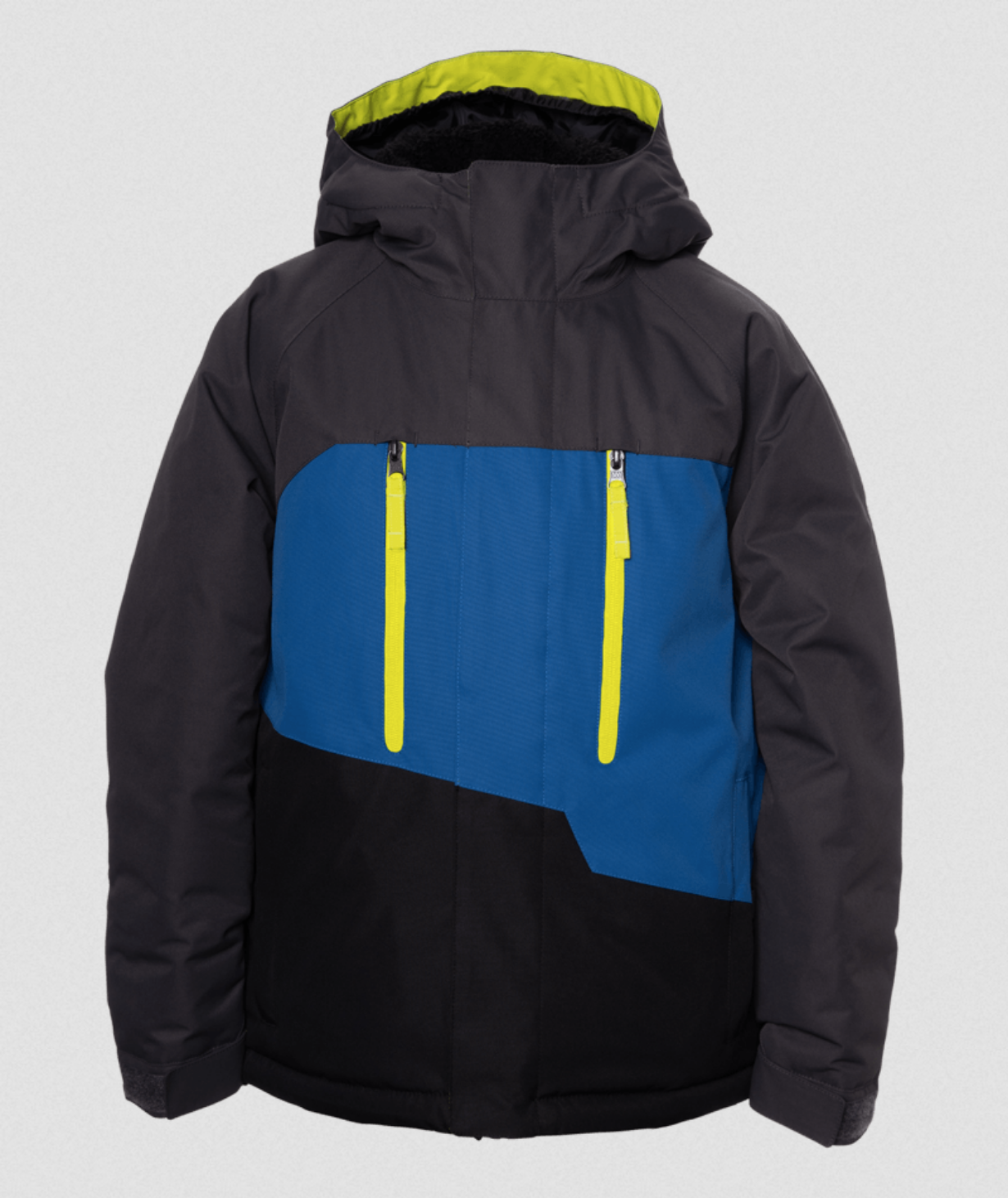 686 Boys Geo insulated Snow Jacket - Charcoal Colorblock