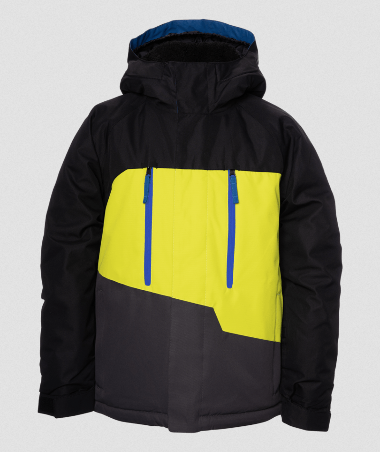 686 Boys Geo insulated Snow Jacket - Lime Punch Colorblock