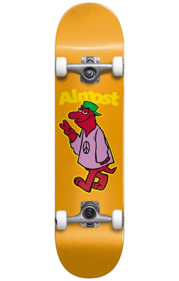 Almost Peace Out First Push Orange 7.875 Skateboard Complete