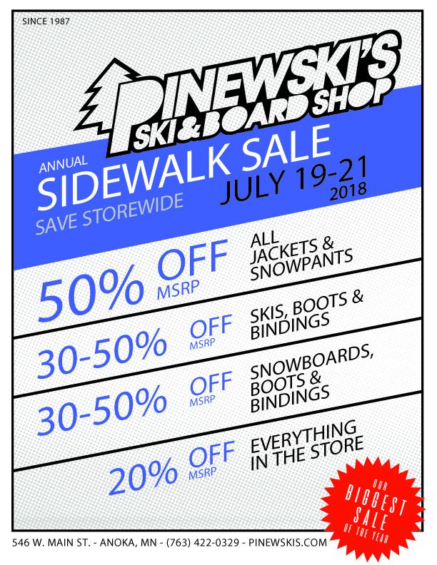 Pinewski's 17/18 Closeout sale