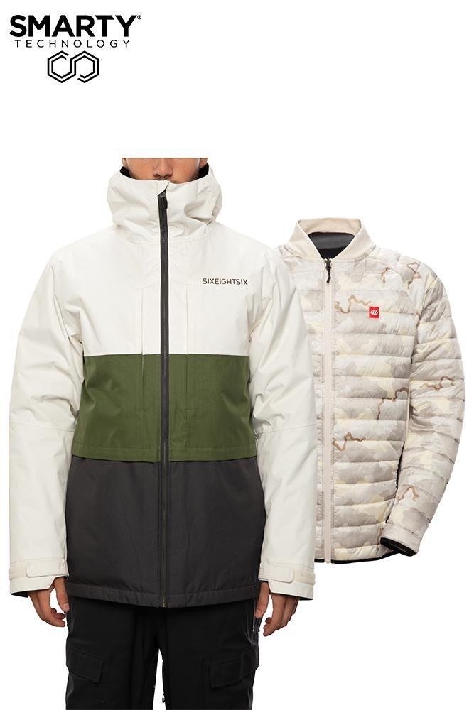 686 Men's Smarty Form 3-in-1 Jacket - Birch Wash Colorblock