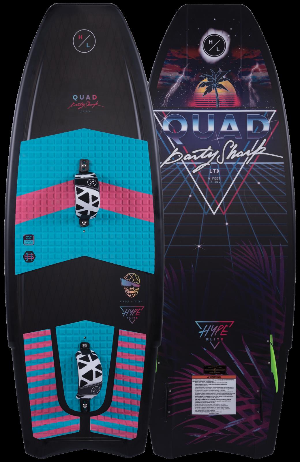 2019 Hyperlite Quad LTD Party Shark Wakesurf Board