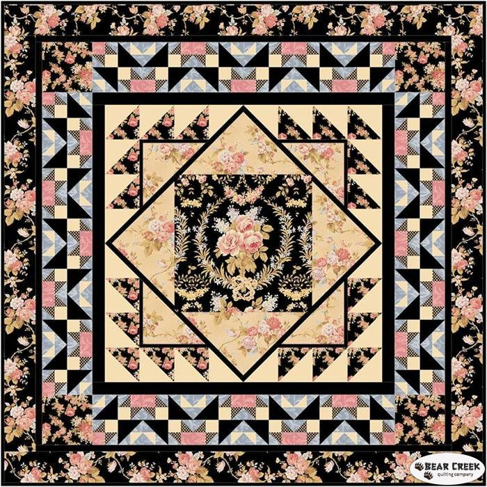 Crown of Roses Quilt Kit by Robyn Pandolph